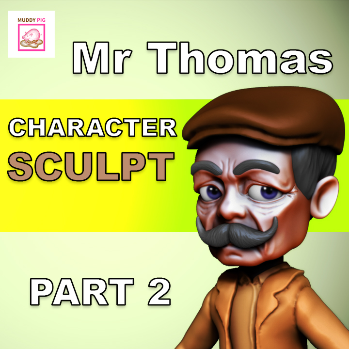Zbrush Concept Sculpt: Mr Thomas character.