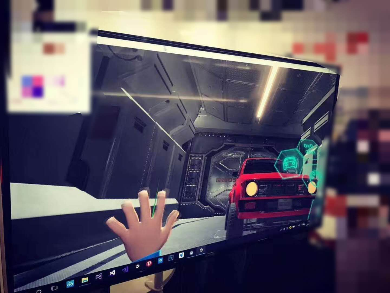 手势交互VR演示(A hand control VR demo)