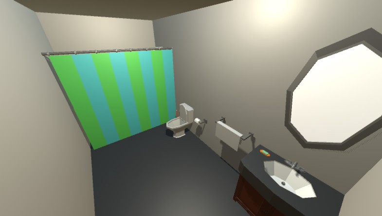 Low Poly Bathroom Pack