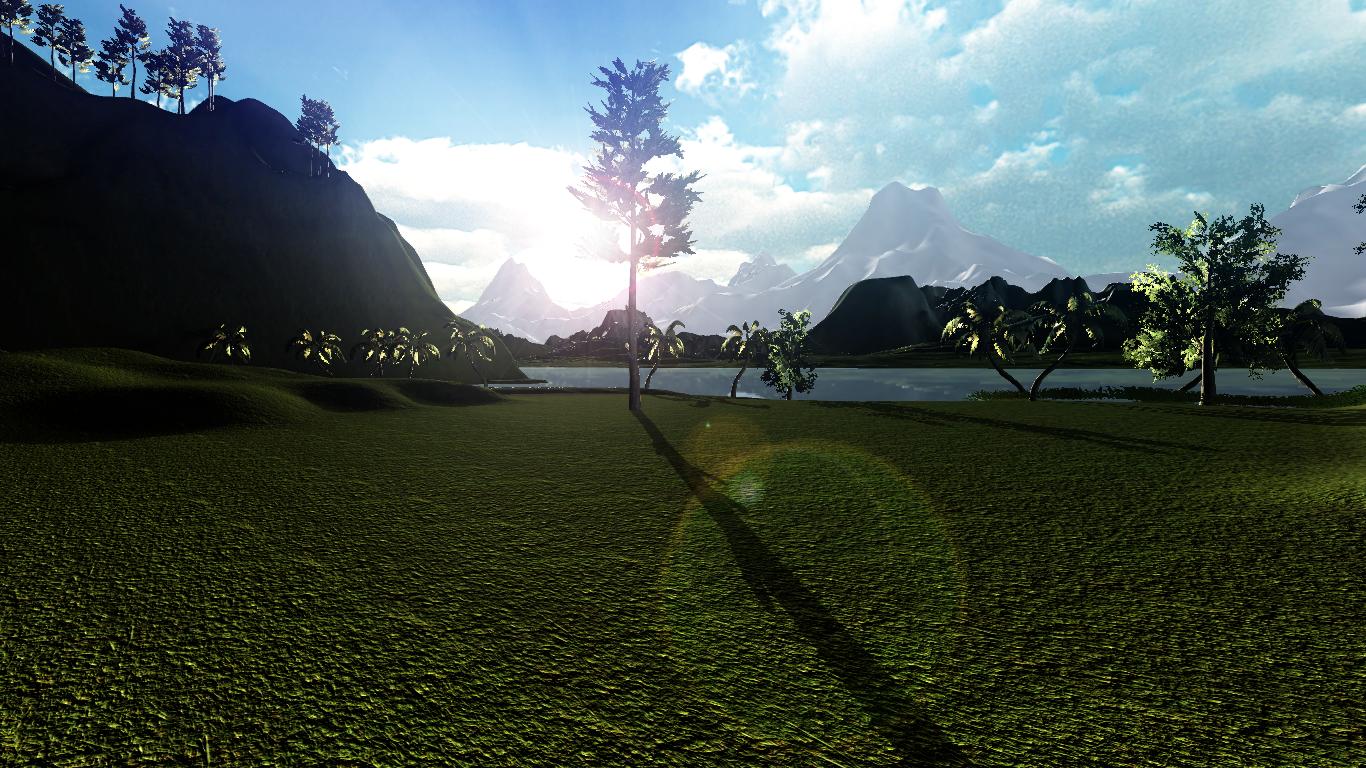 A Tropical Island Scene.