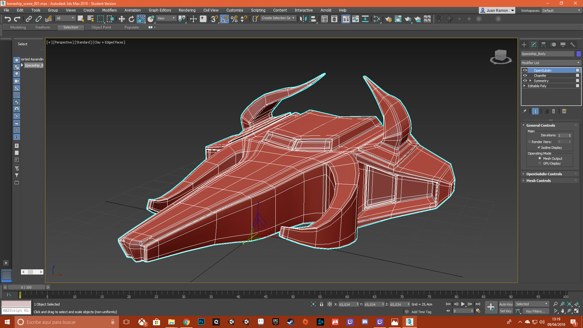 "Spaceship ""BullBreaker"" 3D Model"