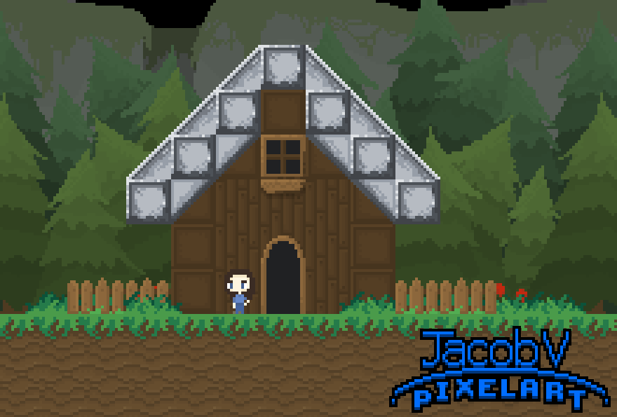 Forest House Mockup