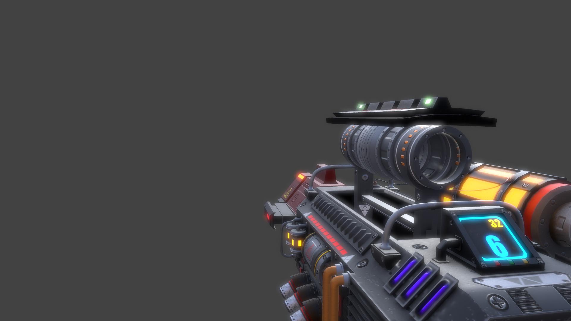 """Hot-Rod"" Sci-Fi Gun"