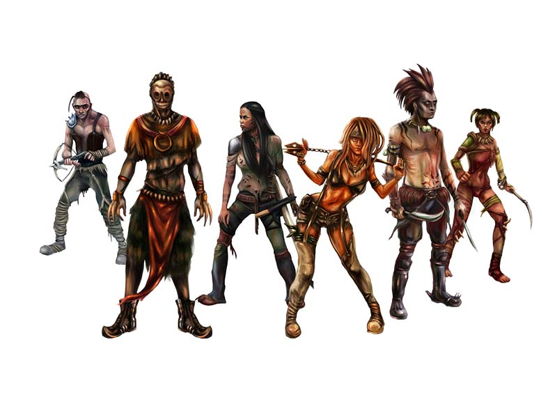 Post Apocalyptic Characters asset