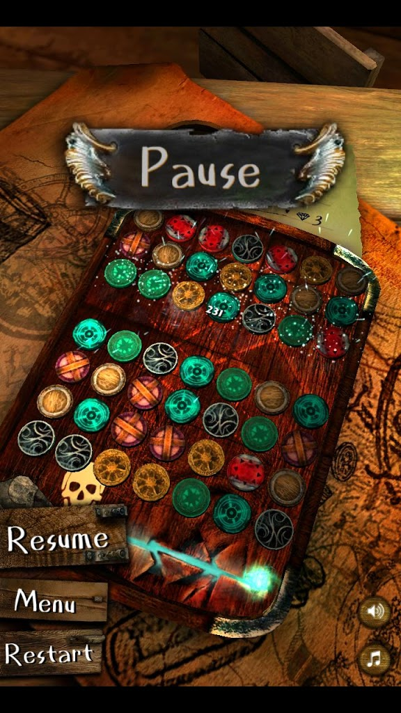 Pirate Jewels / 3d match-3 puzzle