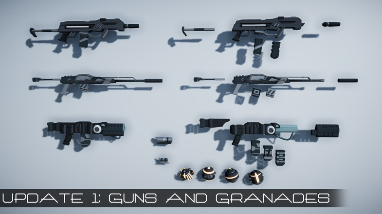 Polygon Sci-Fi Pack, Update with guns!
