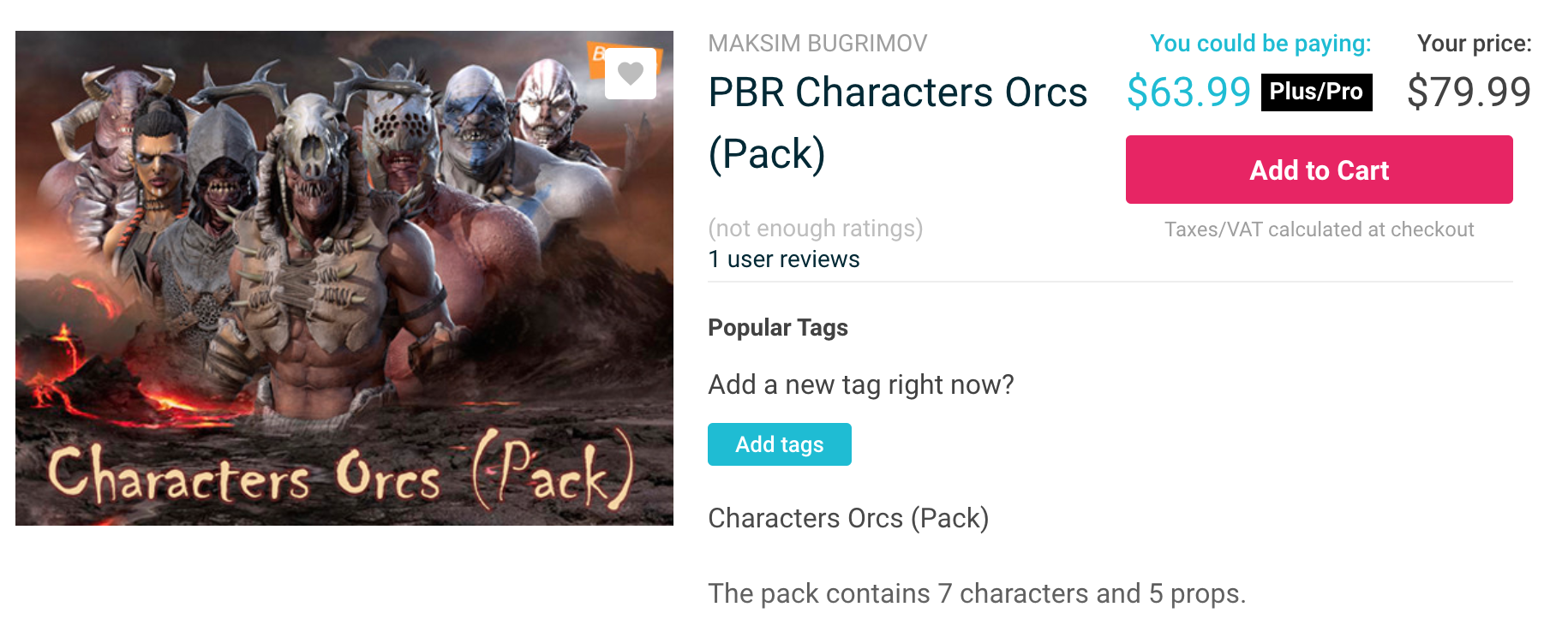 PBR Characters Orcs (Pack)介绍