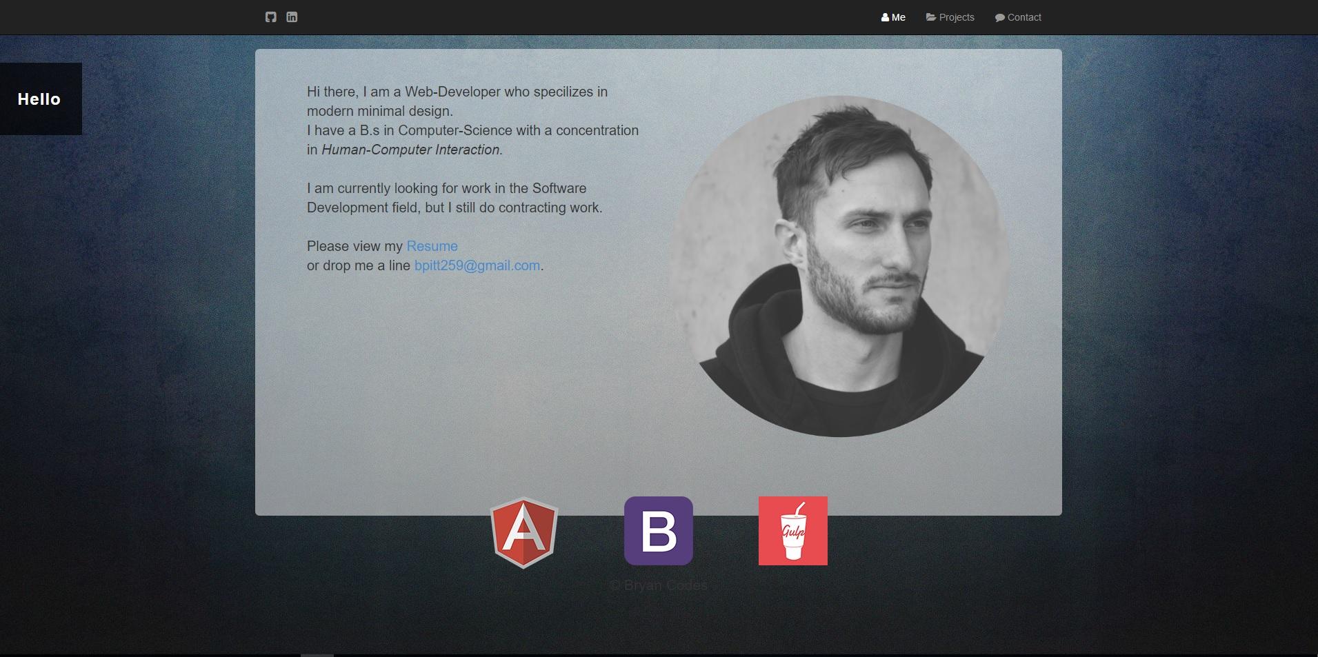 Bryan Codes ( Portfolio Site)