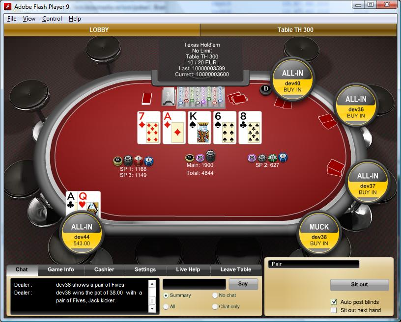 Online Multiplayer Poker (Bossmedia)