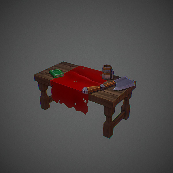 Hand Painted Texture . Fantasy Table