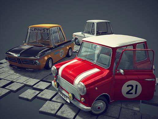 Retro Cartoon Cars Pack#3