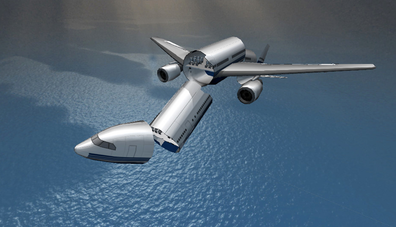 Airplane 300 3d low poly model