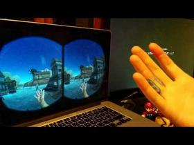 Oculus+LeapMotion Tests