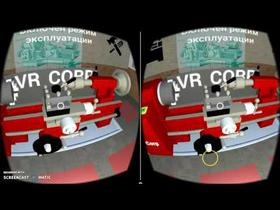 Machine tools simulator VR for mobile