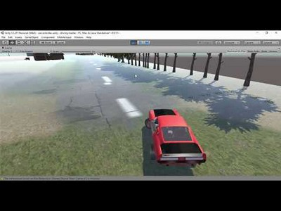unity realistic car and scene