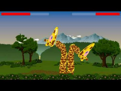 Giraffe Combat Simulator
